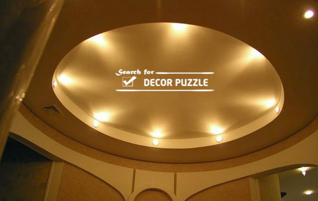 round false ceiling designs lights gypsum board living room