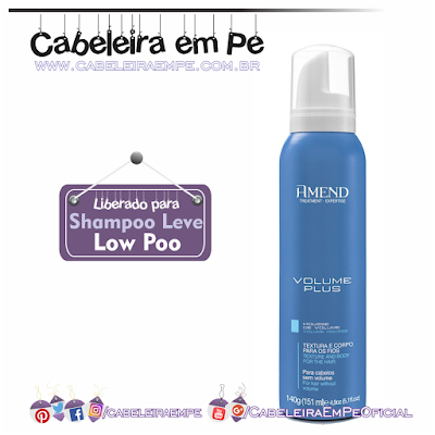 Mousse Volume Plus - Amend (Liberado para Low Poo)