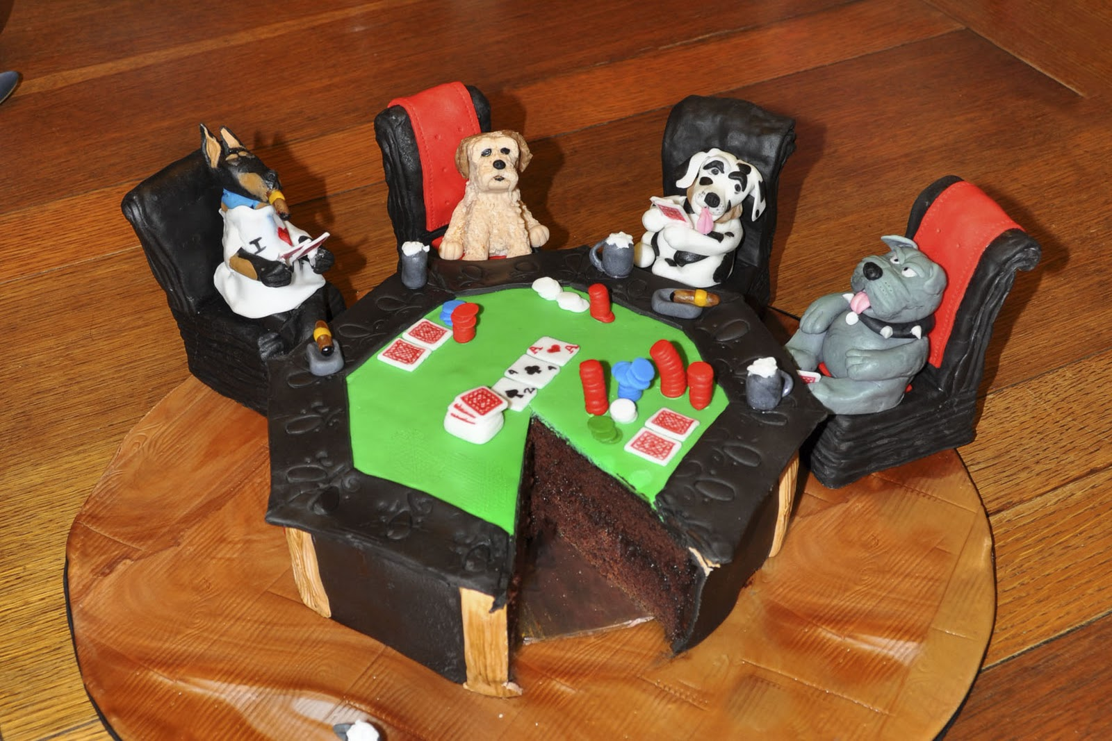 Cakes by Setia: Dogs Playing Poker