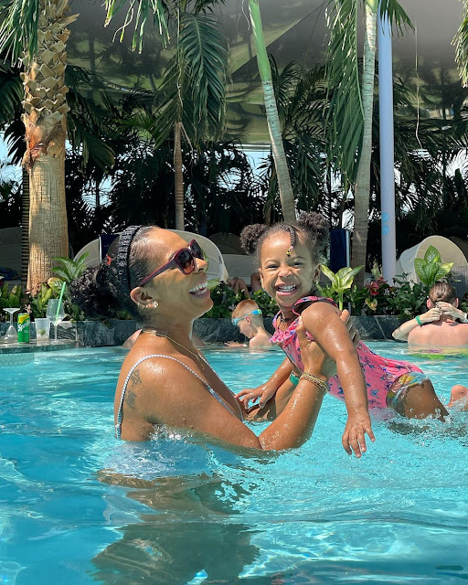 I bled for 4 months — BBNaija's TBoss sharesher  pregnancy story as she celebrates her daughter birthday (Photos)