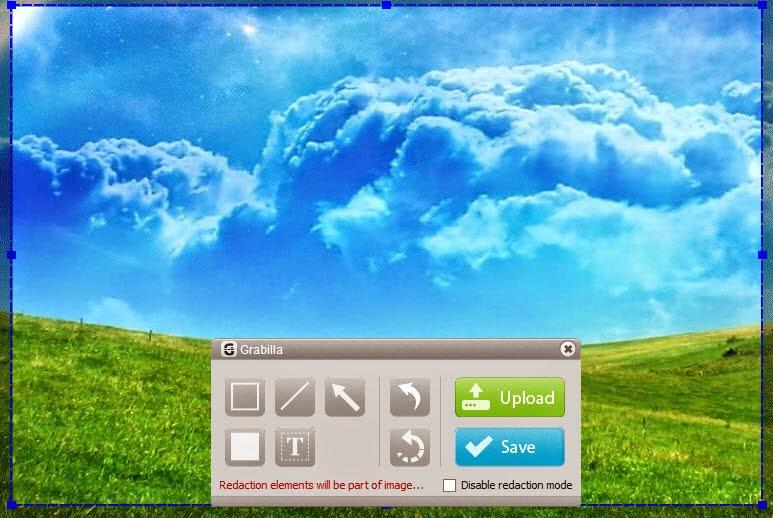 Grabilla :  Εφαρμογή screenshot  καταγραφής οθόνης με βίντεο και ήχο