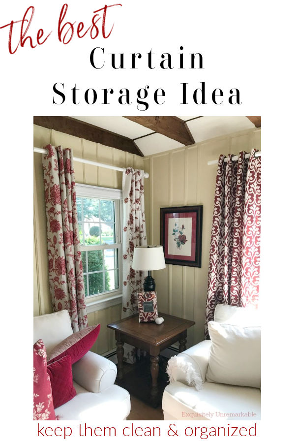 The best curtain storage, keep them clean and organized