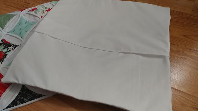 Envelope style pillow back