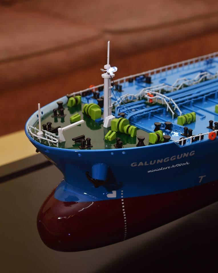 toko miniatur kapal crude oil tanker galunggung milik pertamina terpercaya temanggung jawa tengah