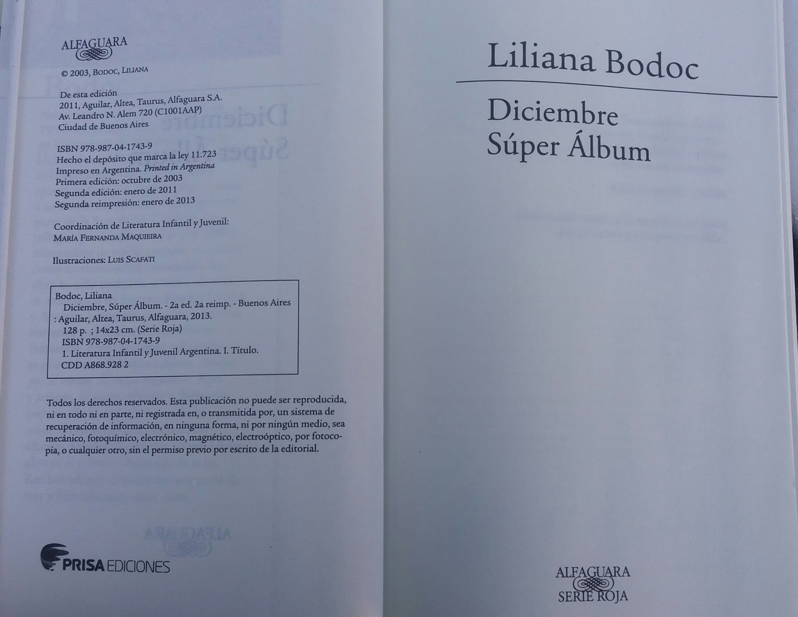 Alumnos de 5 a o del ipem 97 independencia lectura de la novela diciembre super lbum de liliana bodoc
