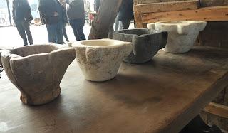 Antiguos morteros en el desembalaje de Tortosa, Tortosantic
