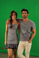 Kriti Sanon & Sushant Singh Rajput Pos During Promotional Interview For Raabta .COM 0004.jpg