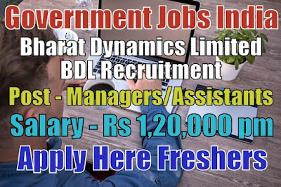 BDL Recruitment 2019