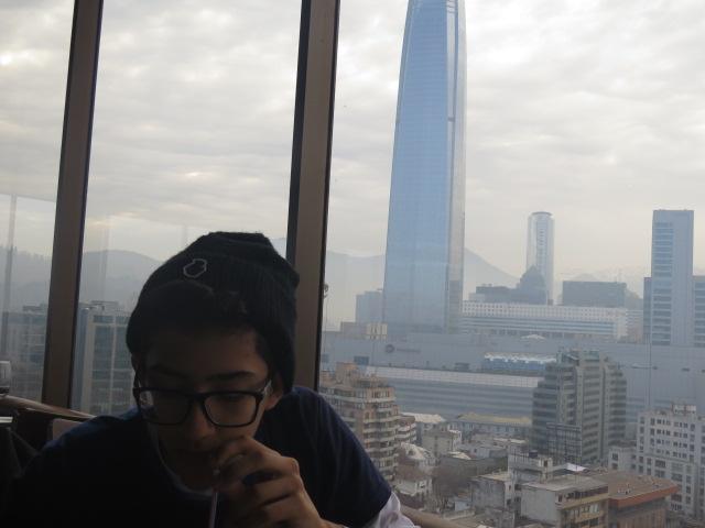 Vista Sky Costanera do restaurante giratório
