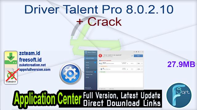 Driver Talent Pro 8.0.2.10 + Crack_ ZcTeam.id