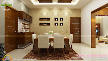 Contemporary Kitchen Dining And Living Room - Kerala Home