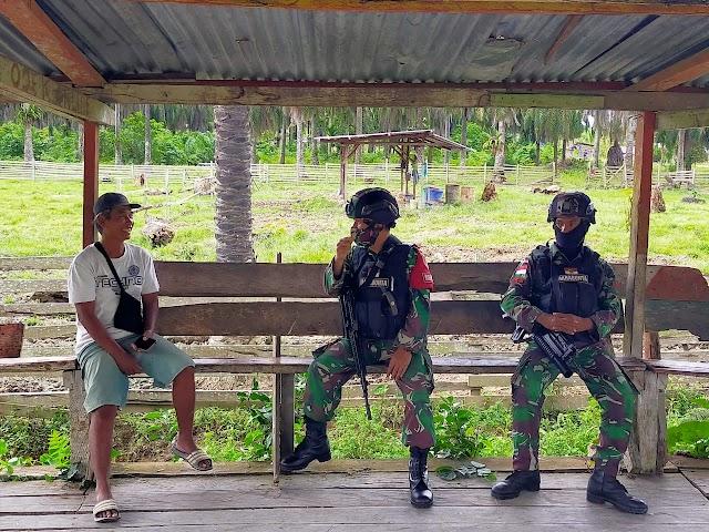 Jalin Keakraban, Satgas Yonif 512 Kunjungi Warga Binaan di Perbatasan Papua