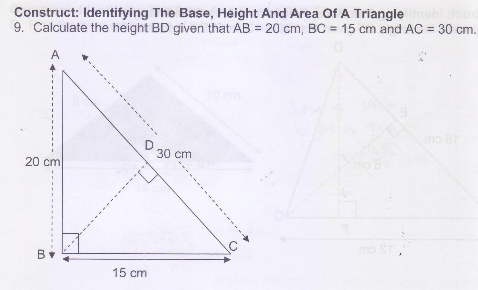 Solving Pythagoras 1 Pythagoras Theorem Worksheet