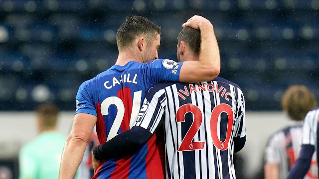 Gary Cahill and Ivanovic reunited during Crystal Palace vs West Brom