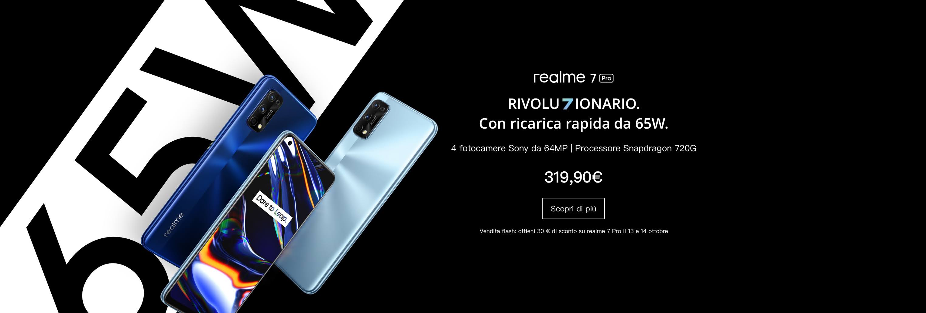 Nuovi realme 7 e 7 Pro disponibili in Italia da 179 euro