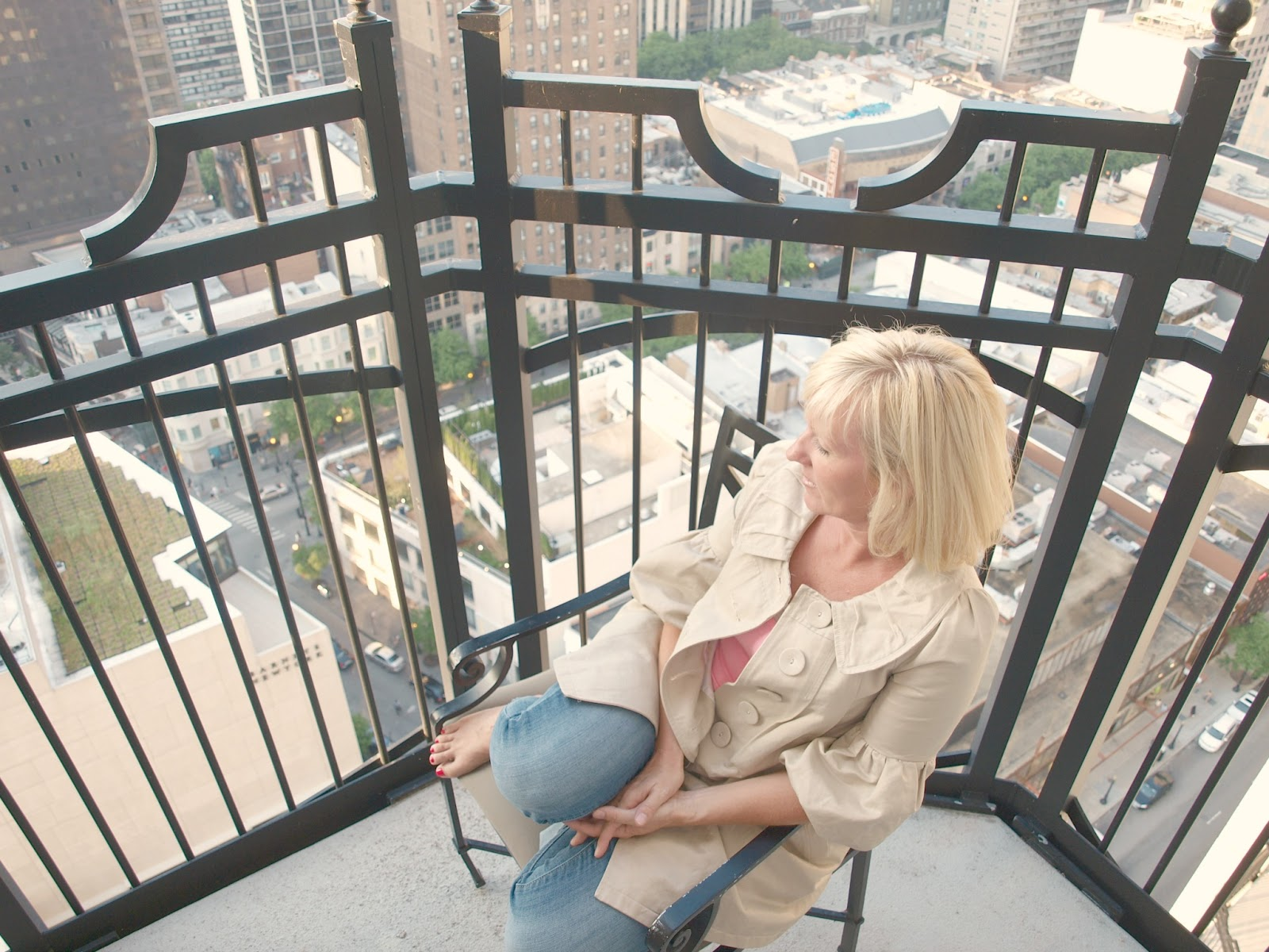 Blonde on balcony Waldorf Chicago by Hello Lovely Studio