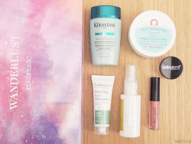 revue avis test lookfantastic beauty box juin 2017 wanderlust edition