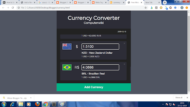 Currency Calculator Computerwiki For Tranding Rates