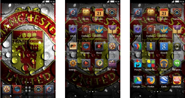 Tema Manchester United Android - Bubble Water