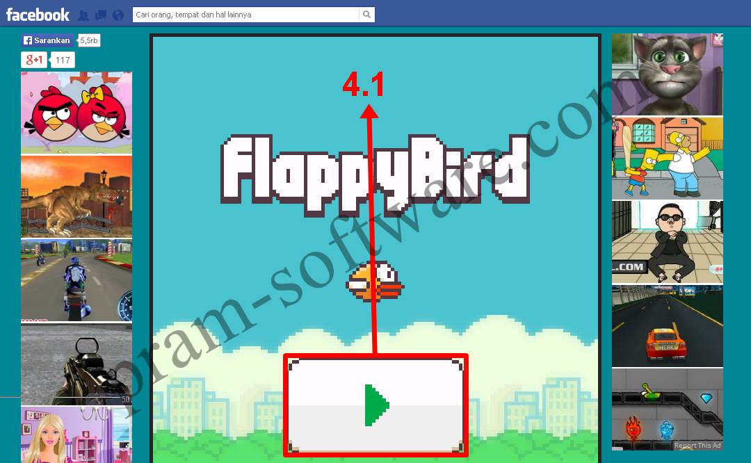 Mainkan Flappy Bird di Facebook