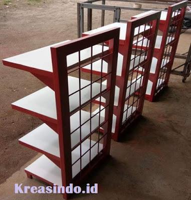 Jasa Pembuatan Rak Besi atau Rak Gondola Single untuk Supermarket di Bandung