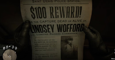 Lindsey Wofford, Bounty Hunting Guide, RDR2, Red Dead Redemption 2