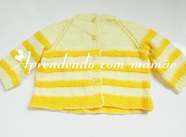 casaquinho de bebê, tricô, Lã Cisne Super Bebê, casaquinho para RN, Ponto meia, Ponto tricô, Ponto barra 1 tricô, casaquinho bicolor