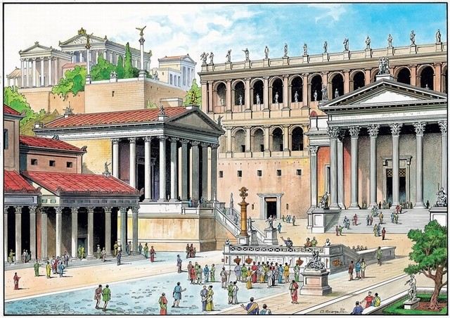 Reconstruccion Foro Romano