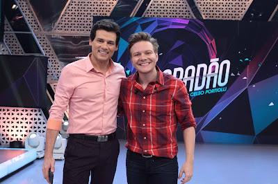 Celso e Michel Teló - Crédito: Leonardo Nones/SBT