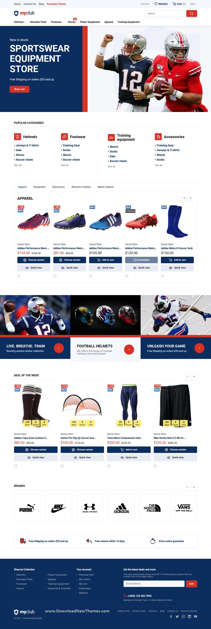 Shopify Sport Club Theme