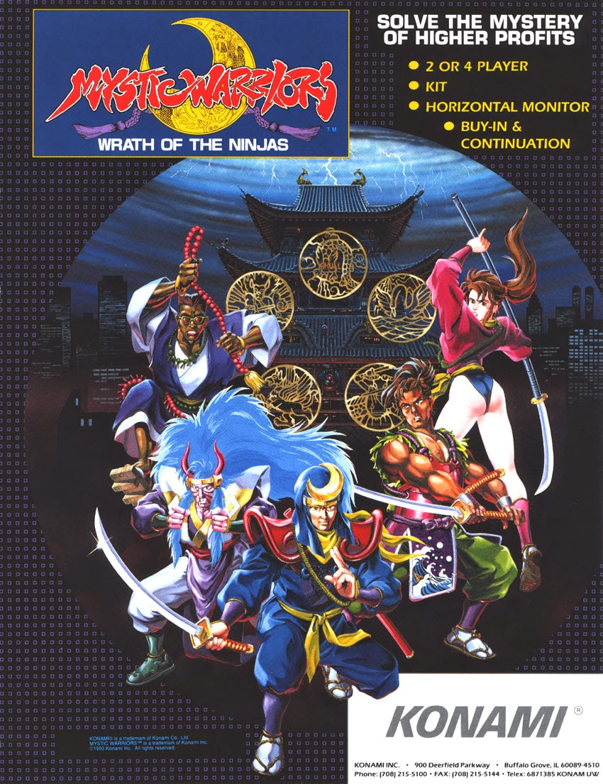 Mystic Warriors: Wrath of the Ninjas+arcade+game+portable