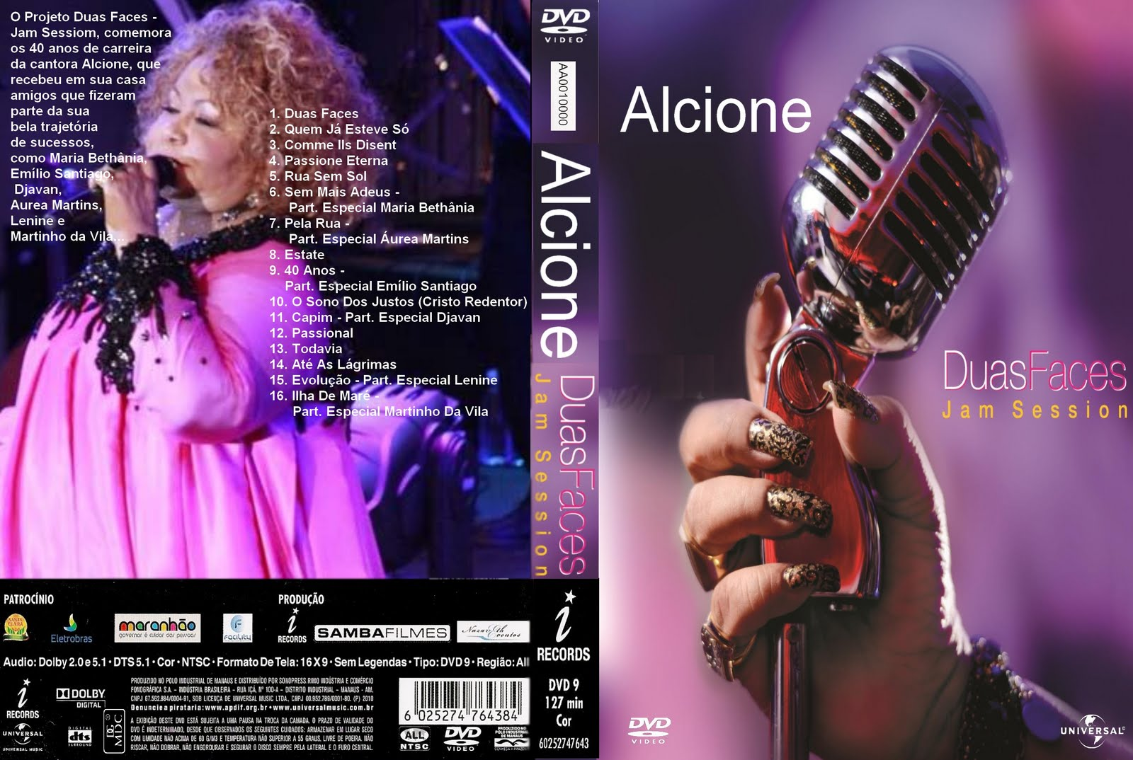 audio dvd alcione ao vivo