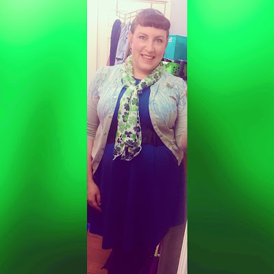 plus size retro glamour cute st patrick's day outfit for work