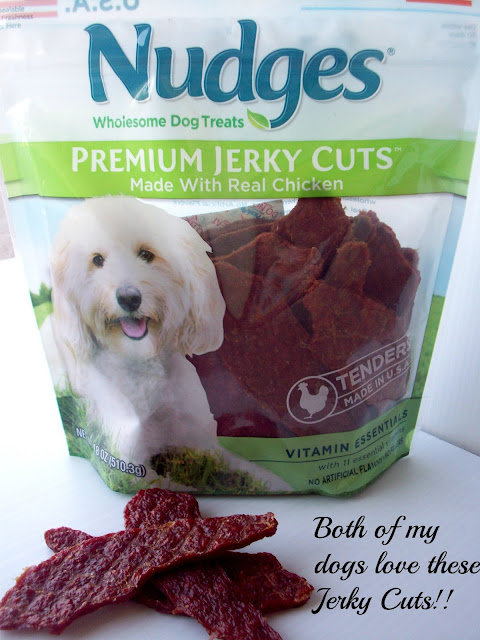 Nudges dog treats - my dogs love them!