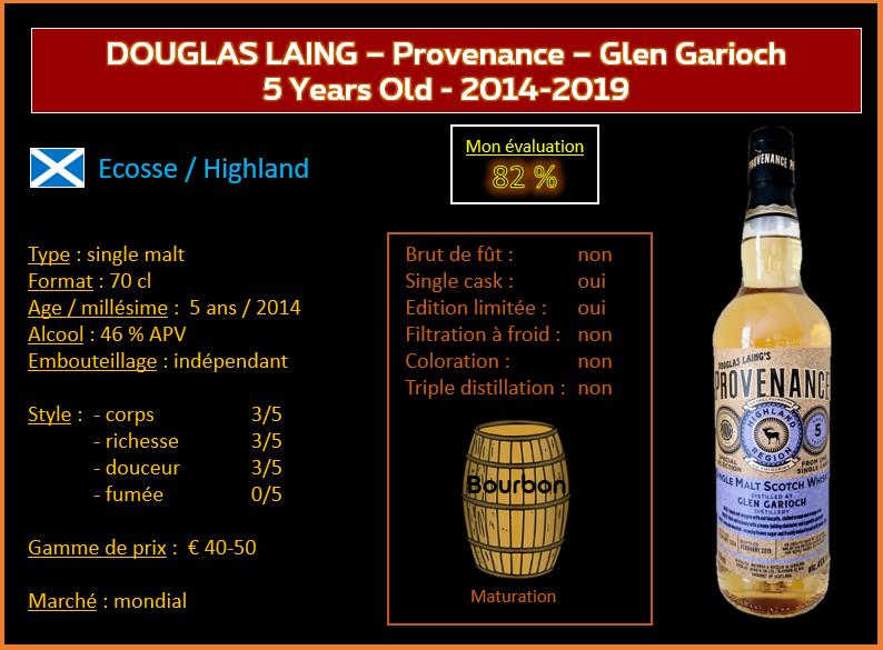 Review #829 : Douglas Laing – Provenance – Glen Garioch 5 Years Old