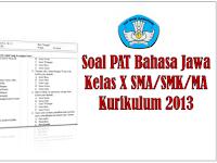 Soal PAT Bahasa Jawa Kelas X SMA/MA/SMK Kurikulum 2013