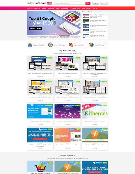 Theme wordpress bán theme, plugin, tài nguyên số ThemeShop