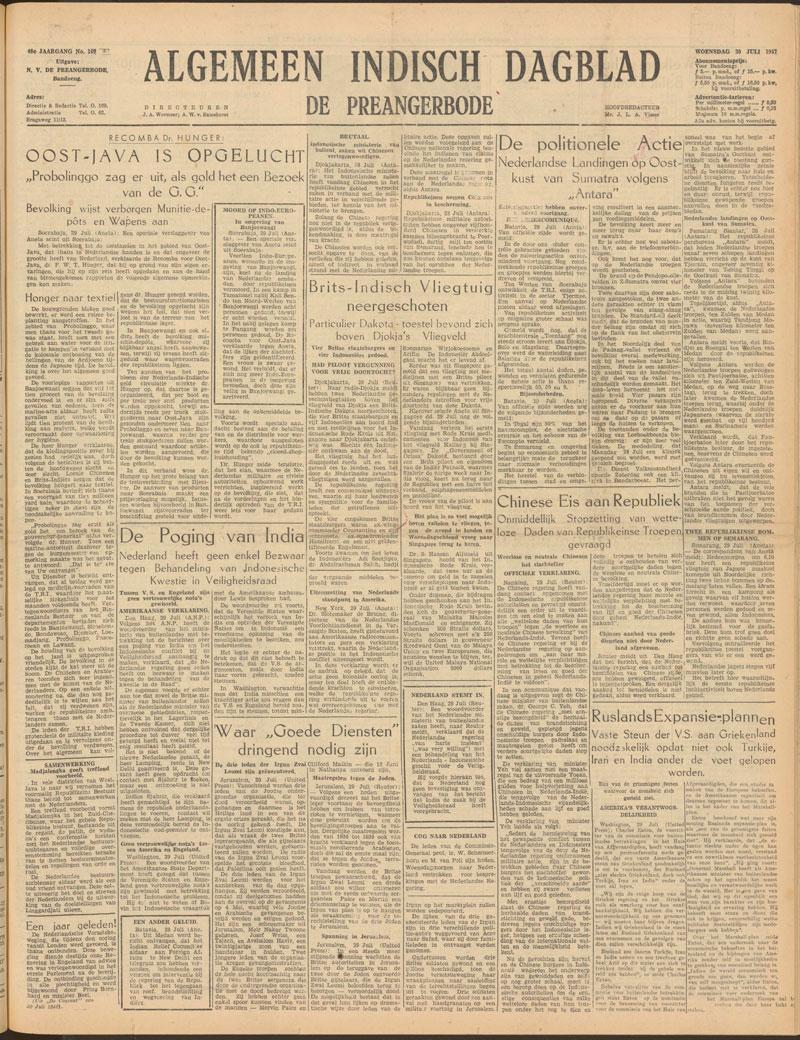 Pahlawan dari Blora Adisumarmo-Algemeen-Indisch-dagblad-30-07-1947-copy-blora-blogger