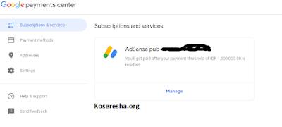 hapus profile pembayaran adsense banned