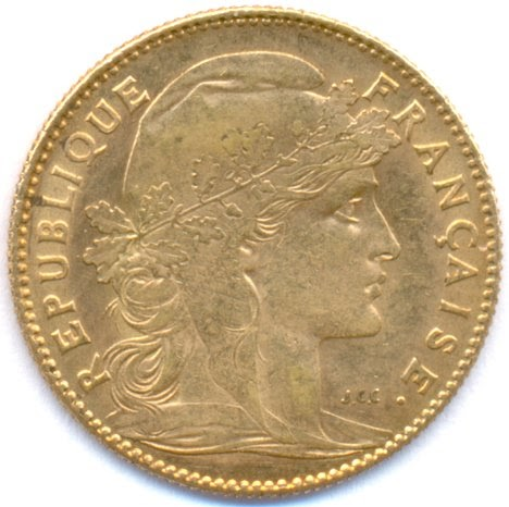 France Gold 10 Francs Rooster World Banknotes Amp Coins