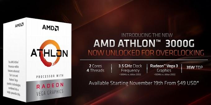 AMD Athlon 3000G, processor 800 ribuan yang bisa di overclock