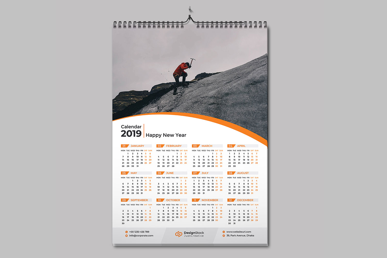 wall calendar 2019 template download