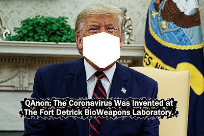 MEME: QAnon: The Coronavirus was Invented at The Fort Detrick BioWeapons Laboratory... gvan42