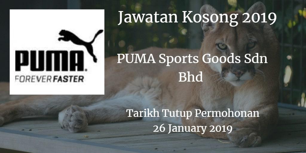 Jawatan Kosong PUMA Sports Goods Sdn Bhd 26 January 2019