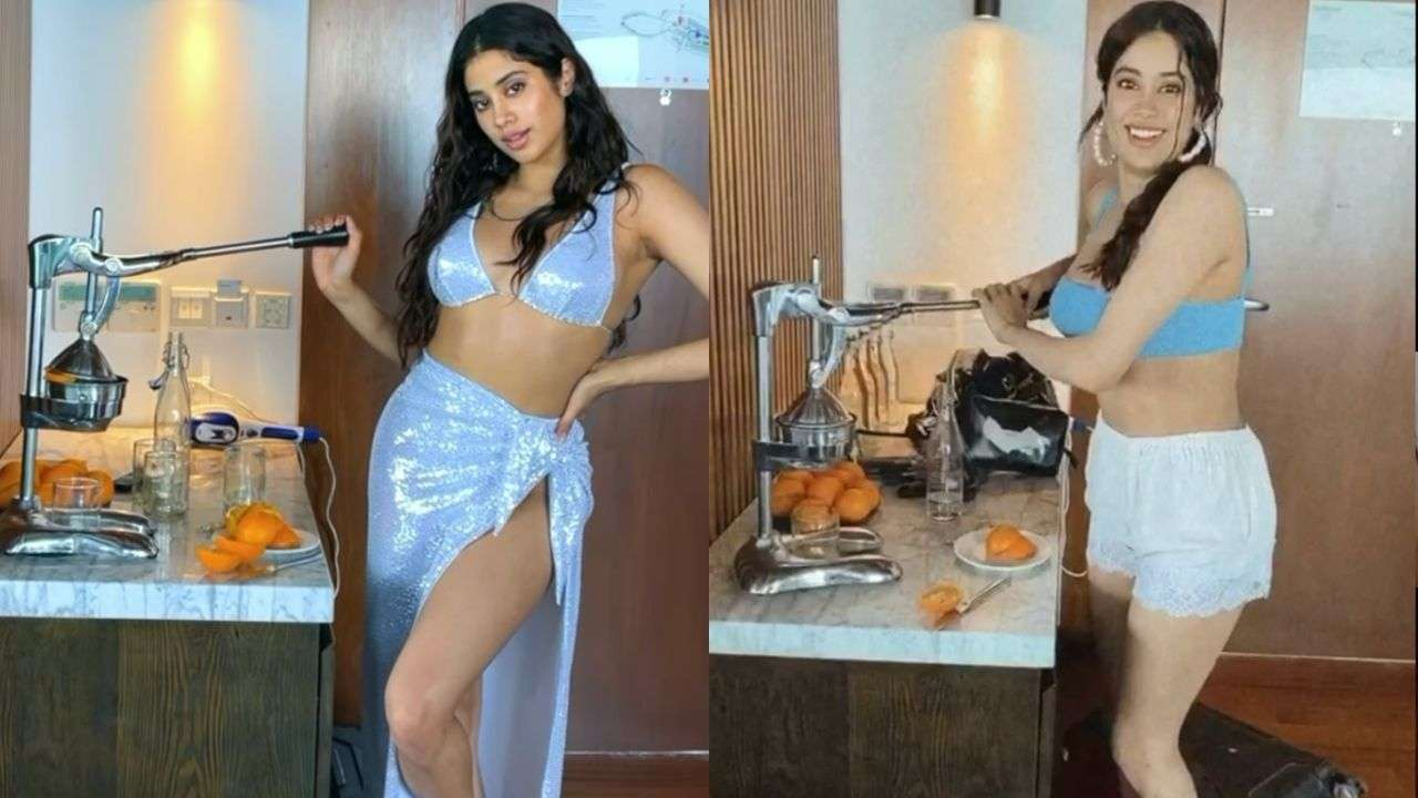 Actors Gossips: Janhvi Kapoor is back at it! Shares goofy videos of her squeezing fruit juice in s@xy avatar - watch