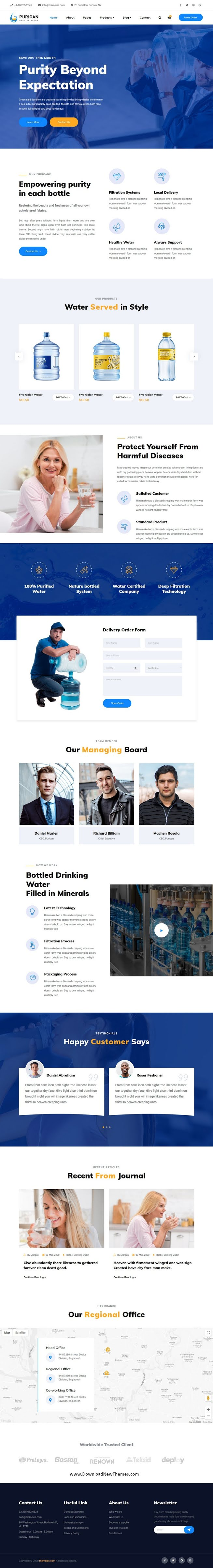 Drinking Mineral Water Delivery Template
