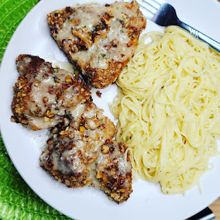 Pecan Crusted Chicken, One of my favorites this week at Encouraging Hearts and Home, link-up your creations, right here at Scratch Made Food! & DIY Homemade Household!