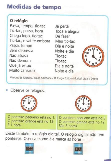 Atividades com Medidas de Tempo para Crianças.