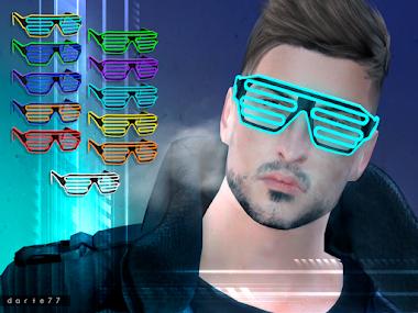 Wire Neon Glasses