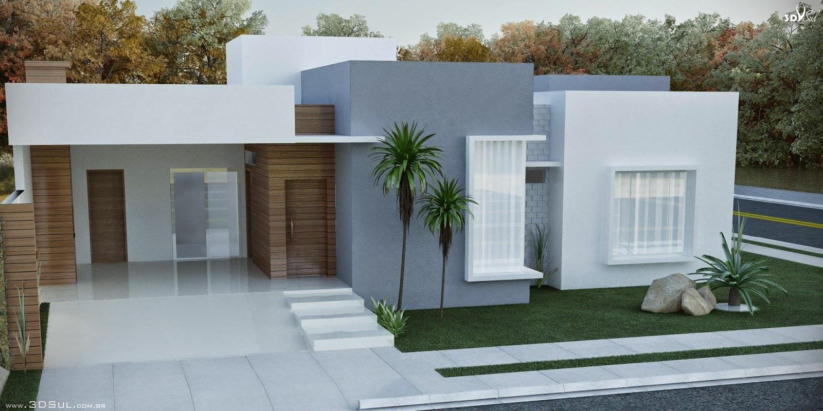 Construindo minha casa clean fachadas de casas quadradas for Modelo de fachadas para casas modernas